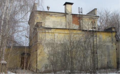 Здание 121 на территории ПО «Маяк», снос которого предполагается в рамках программы ликвидации накопленного ядерного наследия