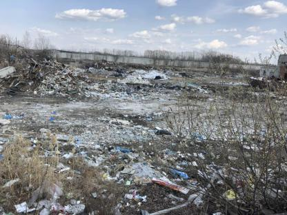 Площадка с нелегальным мусорным  полигоном