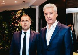 Врио губернатора Курганской области Вадим Шумков и мэр Москвы Сергей Собянин