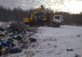 «Югра-Экология» приступила к очистке площадок для временного накопления ТКО в труднодоступных поселках