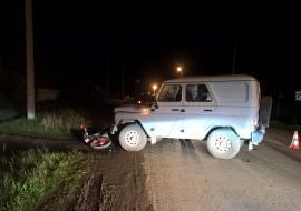 В Богдановичском районе полицейский на «УАЗе» врезался в мопед с подростками