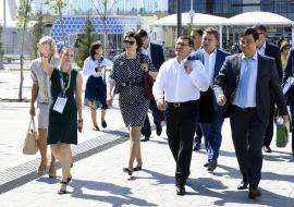 Якушев заинтересовался опытом развития городской среды на «ЭКСПО-