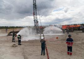 На Западно-Суторминском месторождении ликвидировали учебный нефтяной фонтан