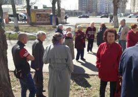 Челябинцы протестуют против вырубки сквера