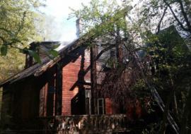 В Екатеринбурге на Большакова сгорел памятник архитектуры