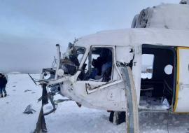 В ЯНАО аварийно сел вертолет Ми-8 с вахтовиками