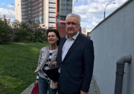 Алексей Миронов с супругой после освобождения из-под домашнего ареста