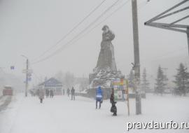 Снегопад парализовал работу аэропорта и автобусное сообщение в Челябинской области