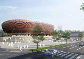 УГМК завершит проект благоустройства территории Ледовой арены до конца года