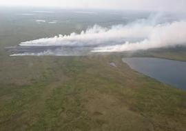 На тушение лесных пожаров в ЯНАО бросили десантников из Бурятии