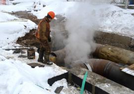 «УСТЭК» устранит порыв трубы в оставшемся без теплоснабжения районе за сутки
