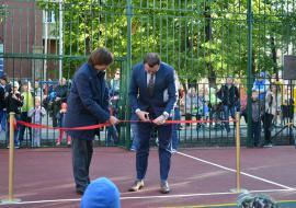 В Тюмени открыли новую спортплощадку