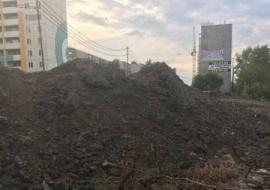 Челябинские строители засыпали реку Миасс