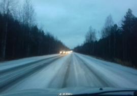 В Свердловской области из-за ледяного дождя ограничили движение автобусов