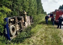 14 человек пострадали при ДТП с пассажирским автобусом в Курганской области