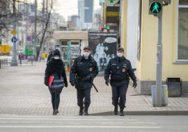 Полиция усилила патрулирование Екатеринбурга из-за коронавируса