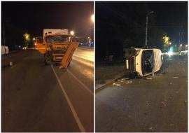 В Челябинске мусоровоз протаранил автобус с пассажирами