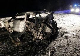 В ХМАО трое человек заживо сгорели в машине в результате ДТП