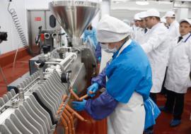 После реконструкции запустили производство ООО «Богдановичский мясокомбинат»