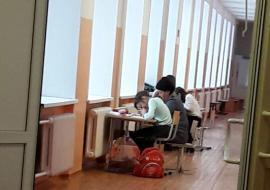 В Краснотурьинске дети учатся в коридорах школы