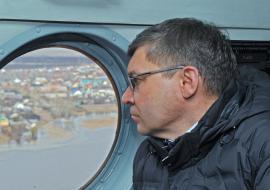 Якушев вылетел в затопленный муниципалитет