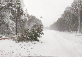 Ураган ограничил транспортное сообщение между Тюменью и Ханты-Мансийском