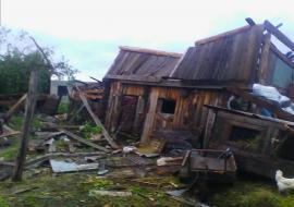 Разрушенные ураганом дома жителей Зауралья власти оценили в 120 тысяч