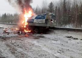 В ДТП с шестью машинами в ХМАО «Газель» сгорела вместе с водителем