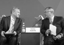 Глава Сбербанка Герман Греф и глава ВТБ Андрей Костин
