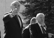 Губернатор Челябинской области Борис Дубровский и экс-глава Челябинска Евгений Тефтелев