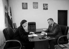 Губернатор ХМАО Наталья Комарова и глава Пыть-Яха Александр Морозов