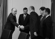 Рабочая встреча Дубровского и Лундмарка