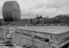 Вид со стройплощадки на перекрестке Ленина – Космонавтов