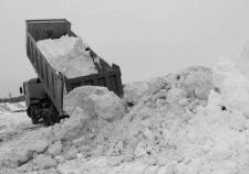 Вывоз снега на полигон
