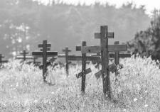 Могильные кресты, кладбище