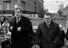 Алексей Текслер на объезде Челябинска вместе с главой города Владимиром Елистратовым