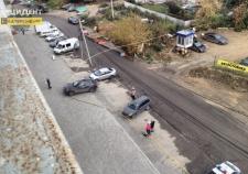 Автоледи на «Инфинити» протаранила газопровод в Екатеринбурге