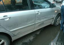 В Екатеринбурге на Ботанике столкнулись 4 автомобиля