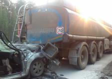 В Екатеринбурге пассажирка «Лады» погибла после ДТП с бензовозом