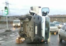 Шесть человек пострадали в ДТП с маршруткой и грузовиком в Челябинске