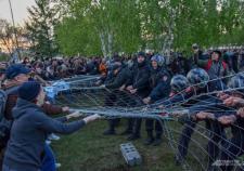 В Екатеринбурге возбудили уголовное дело на участника протестов против Храма святой Екатерины