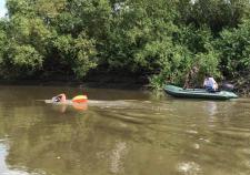 Участники Экологической экспедиции – заплыва по Тоболу преодолели 70 километров от Кургана