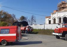 Под Екатеринбургом загорелся храм РПЦ