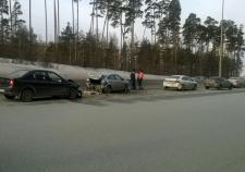 10-месячный ребенок пострадал в ДТП с 5 машинами под Екатеринбургом