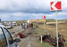В Увельском районе водитель иномарки врезался в большегруз и погиб