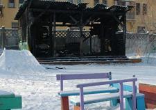 В Екатеринбурге вновь подожгли веранду детского сада